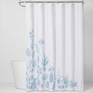 NEW CVC Shower Curtain Antiquity Blue BQ2